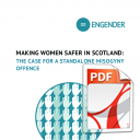 Making women safer in Scotland: the case for a standalone misogyny offence